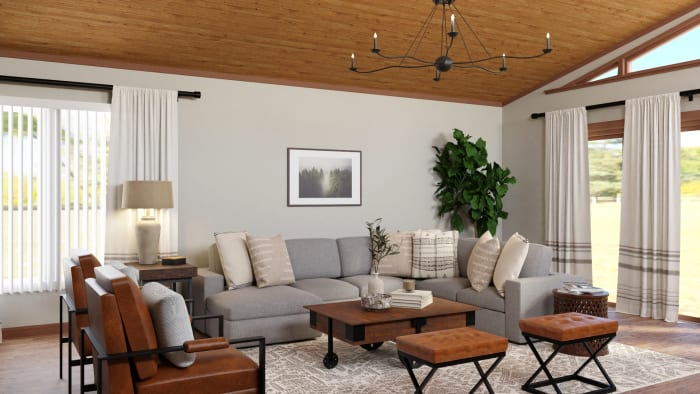 The Coziest Industrial-Rustic Living Room Ever Design View 3 By Spacejoy