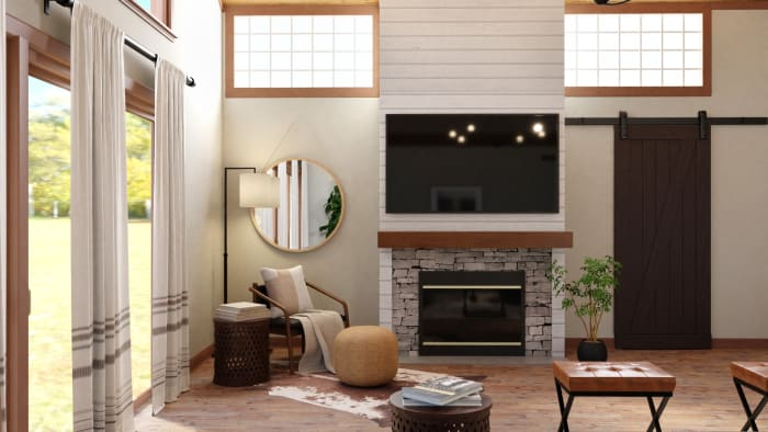 The Coziest Industrial-Rustic Living Room Ever Design View 4 By Spacejoy