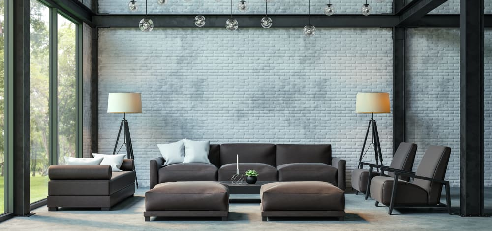 industrial modern living room