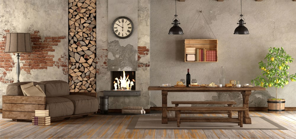 Rustic Living Room Design Ideas by Spacejoy