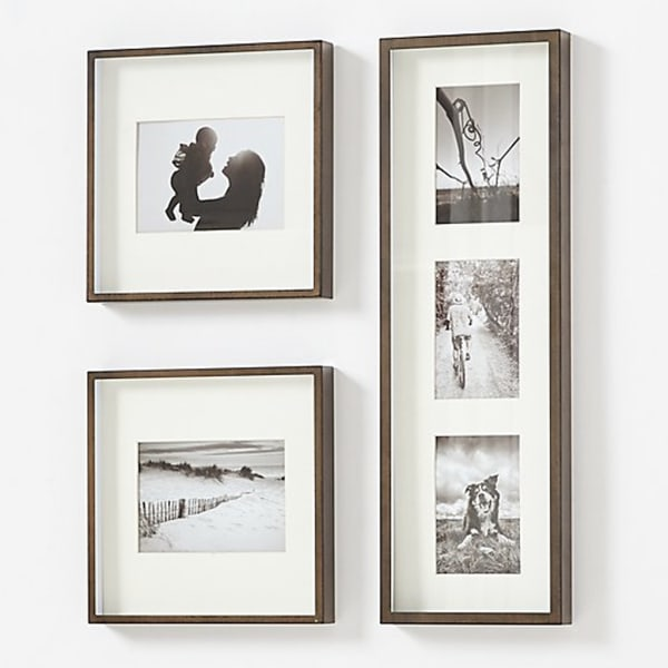 Brushed Antique Bronze Picture Frame - Crate and Barrel