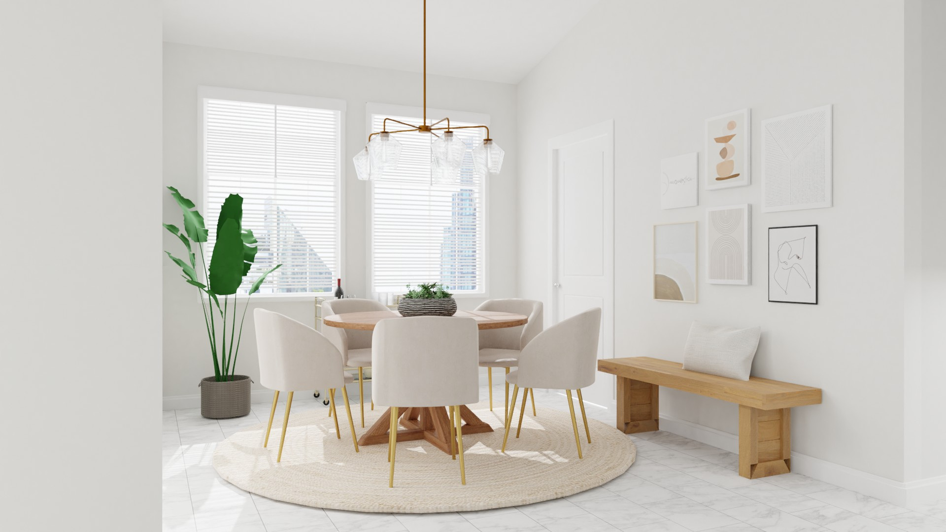 Minimal Dining Room Decor