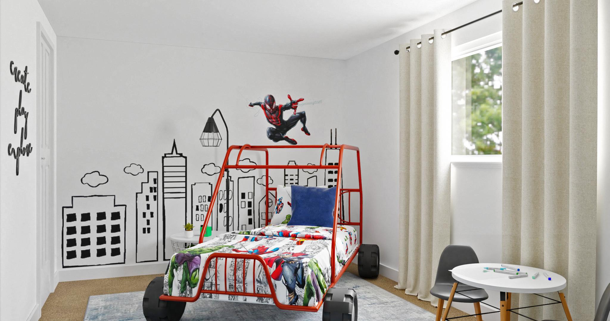 boys spiderman themed room