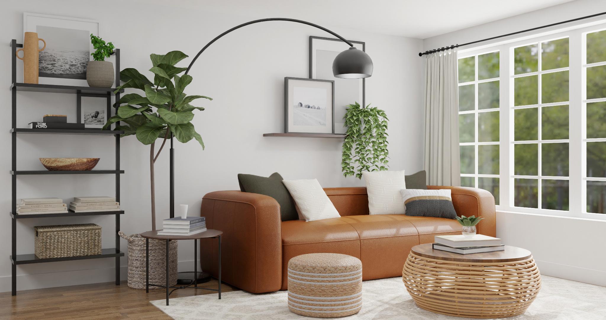 Spacejoy Mid Century Modern Living Room