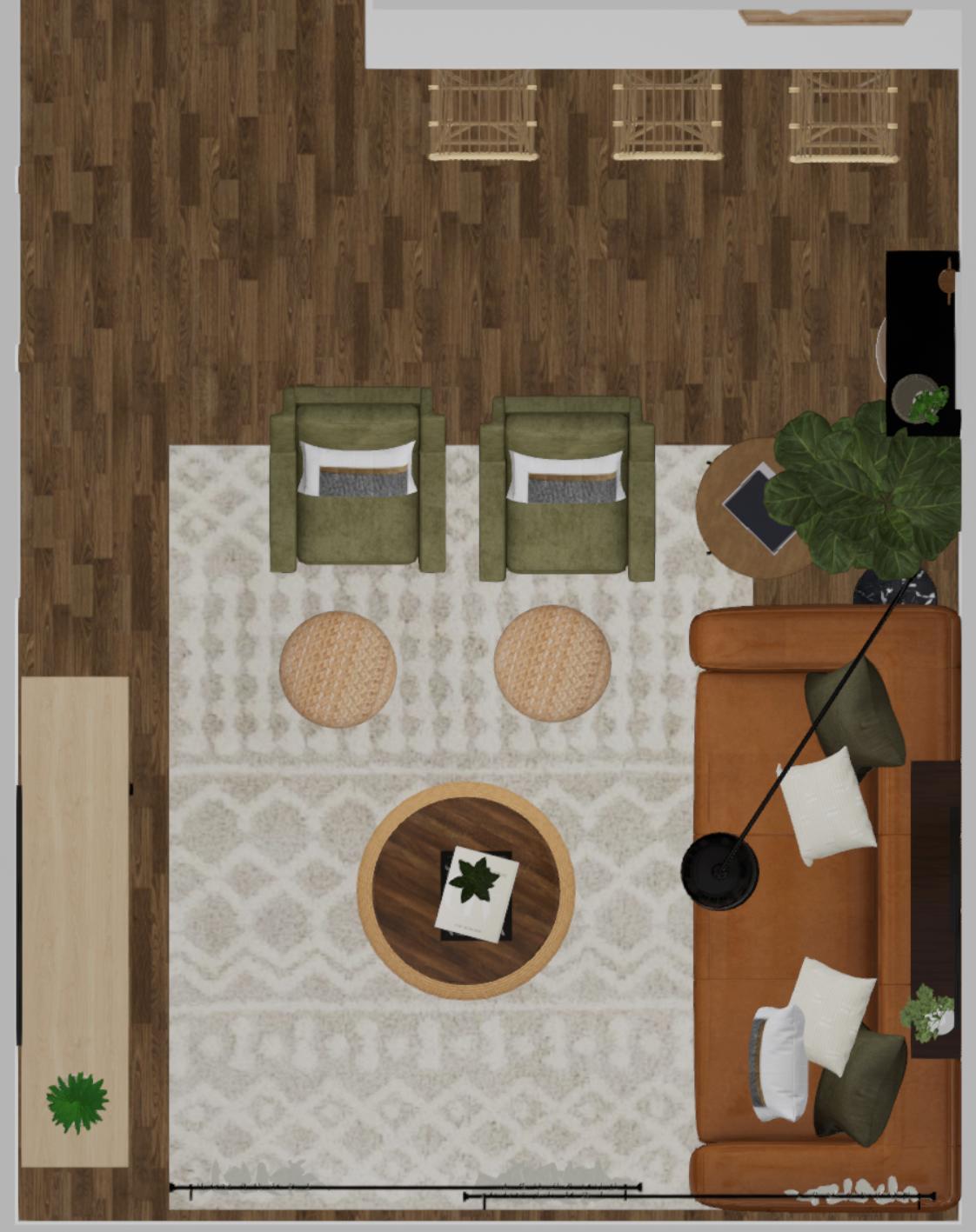 Spacejoy Living Room Layout