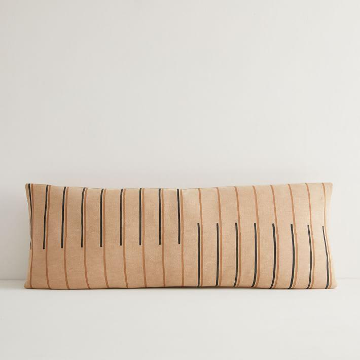 Hana Hazelnut Lumbar Pillow Cover from West Elm