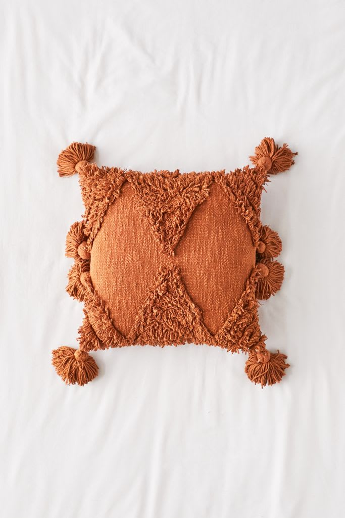 Rumi Shag Throw Pillow from Urban Outfitters
