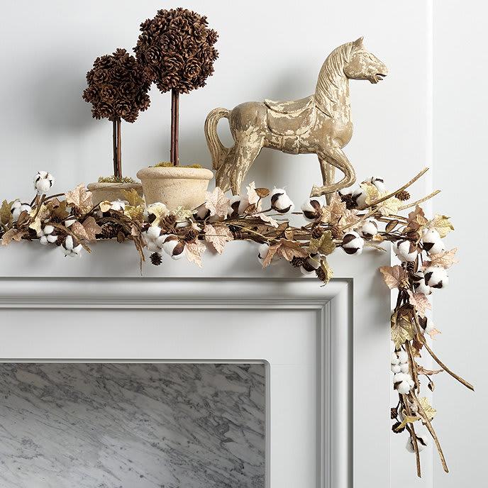 Cotton Leaf Garland from Ballard Designs