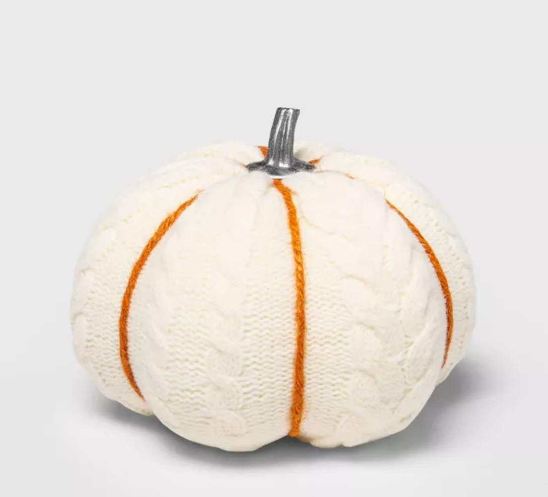 Cable Knit Soft Fabric Harvest Pumpkin from Target