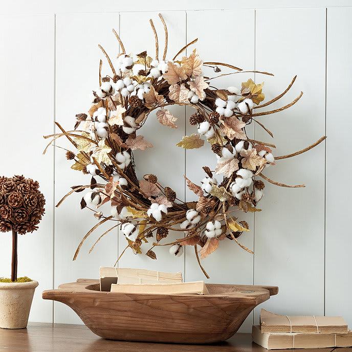 Cotton Leaf Wreath from Ballard Designs
