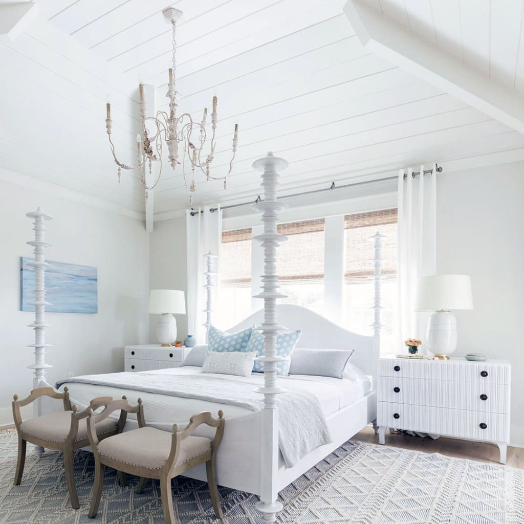Shiplap styled ceiling