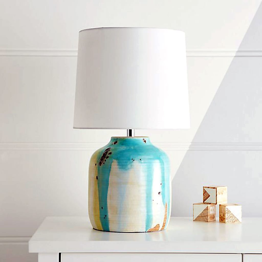 terracotta drip-glaze table lamp