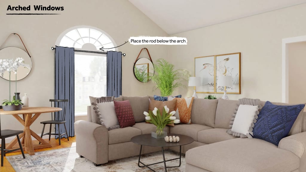 How to style Arched Windows