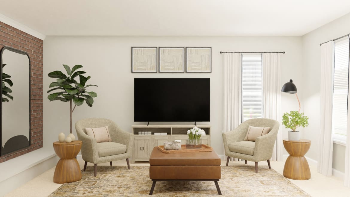 neutral living room design