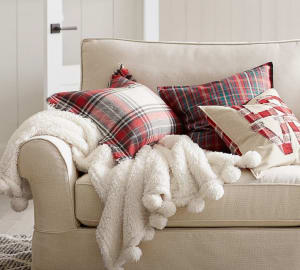 Cozy Pom Pom Sherpa Throws