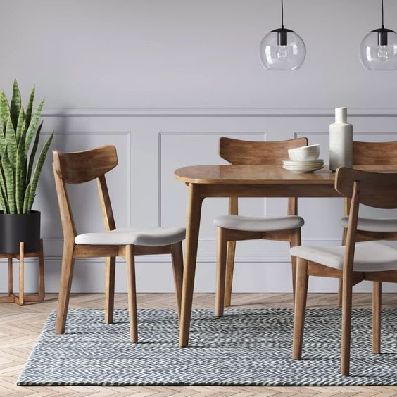 Astrid Mid-Century Dining Table with Extension Leaf
