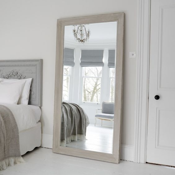 Statement mirror in the bedroom