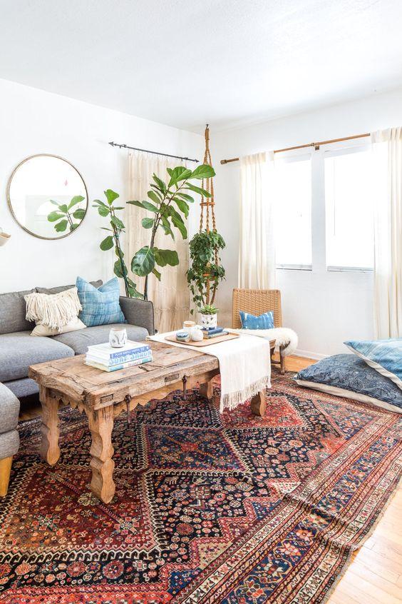 Vintage rug for the living room
