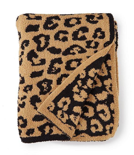 leopard print throw