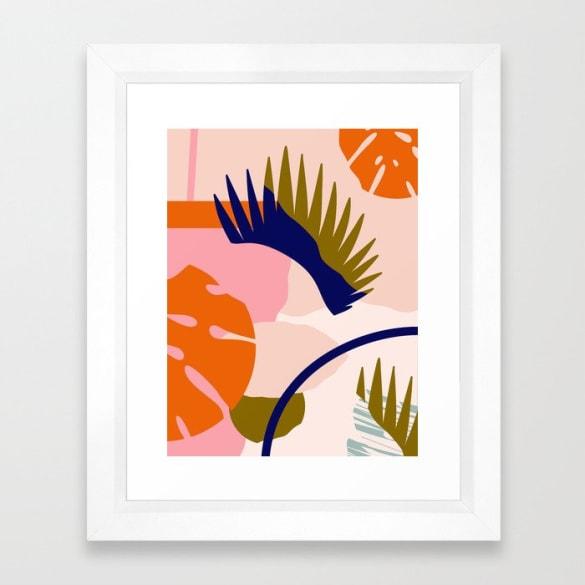 Tropical Island Framed Print