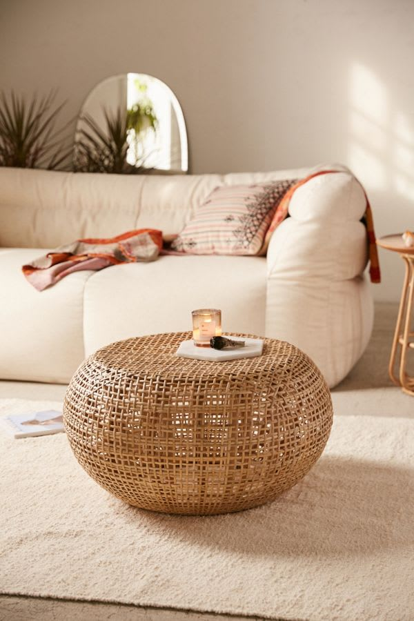 Marte Ottoman from Urban Outfitters in Rattan