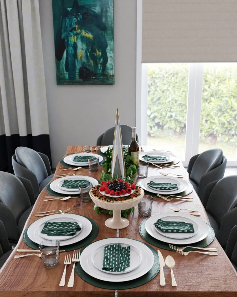 Spacejoy Modern Tablescape Design