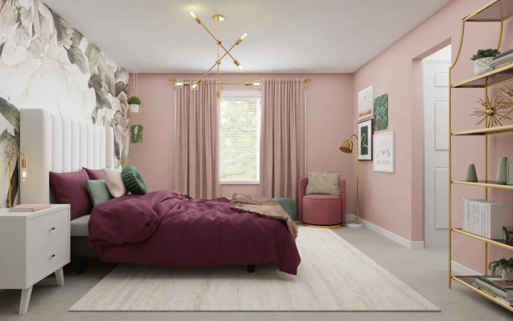 eclectic bedroom style
