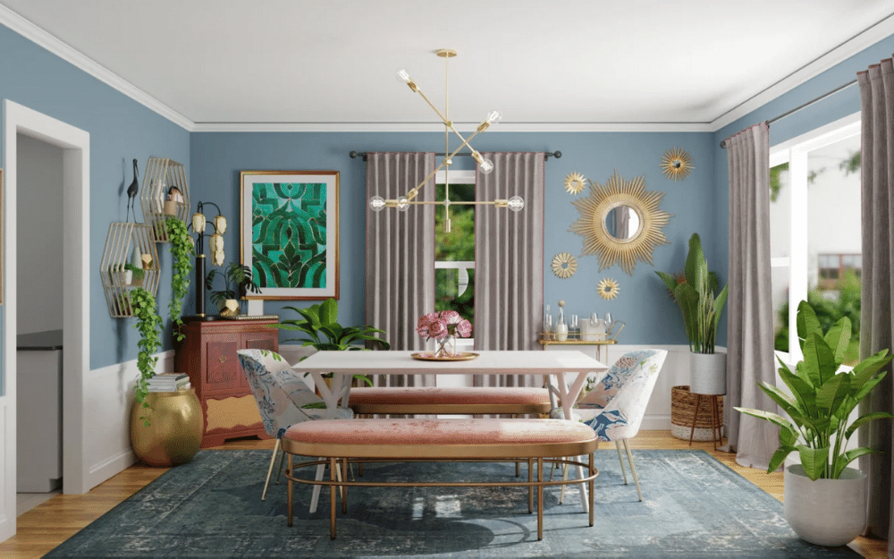 eclectic dining room style