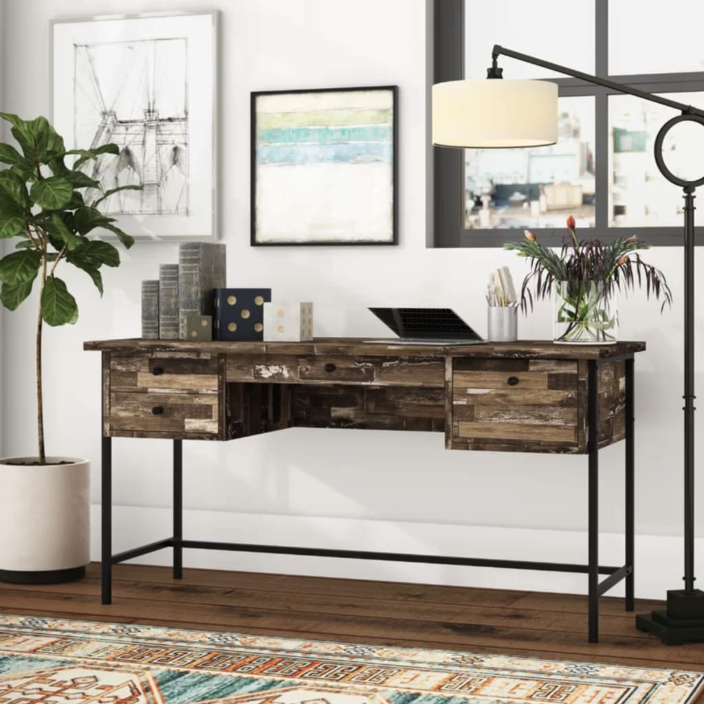Eclectic modern study table