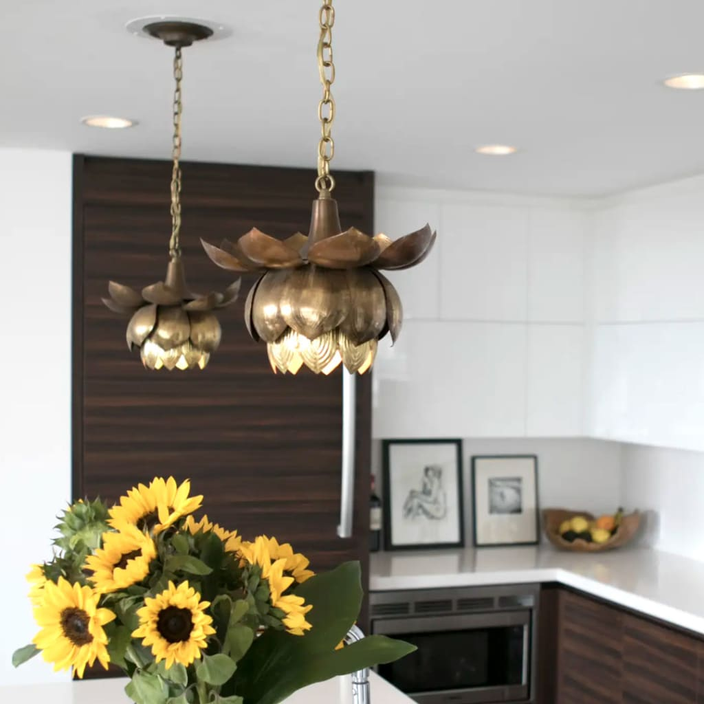 Real brass ceiling lamp