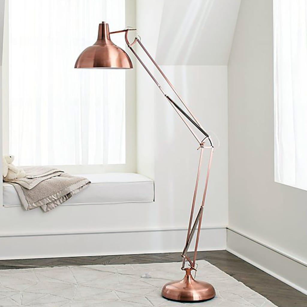 Large Copper floor lamp