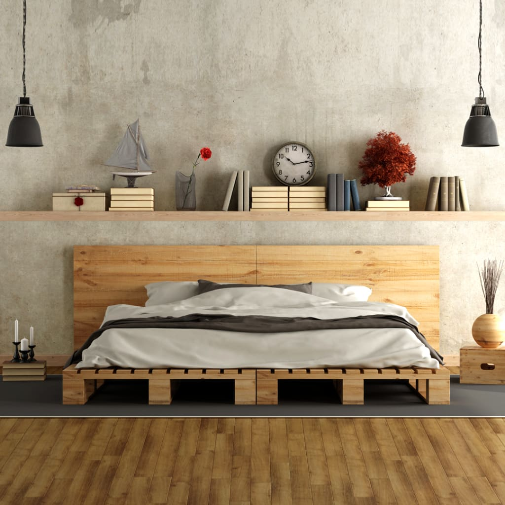 Minimal bedroom design with platform bed