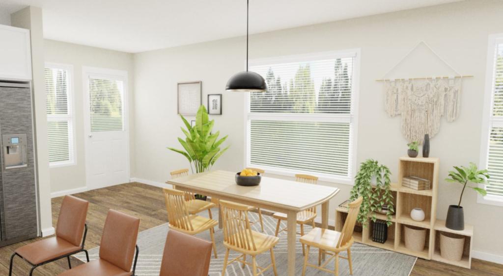 boho style dining room