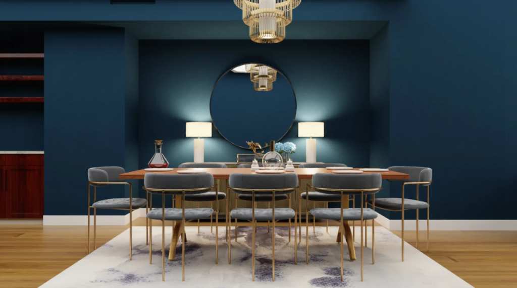 glam style dining room