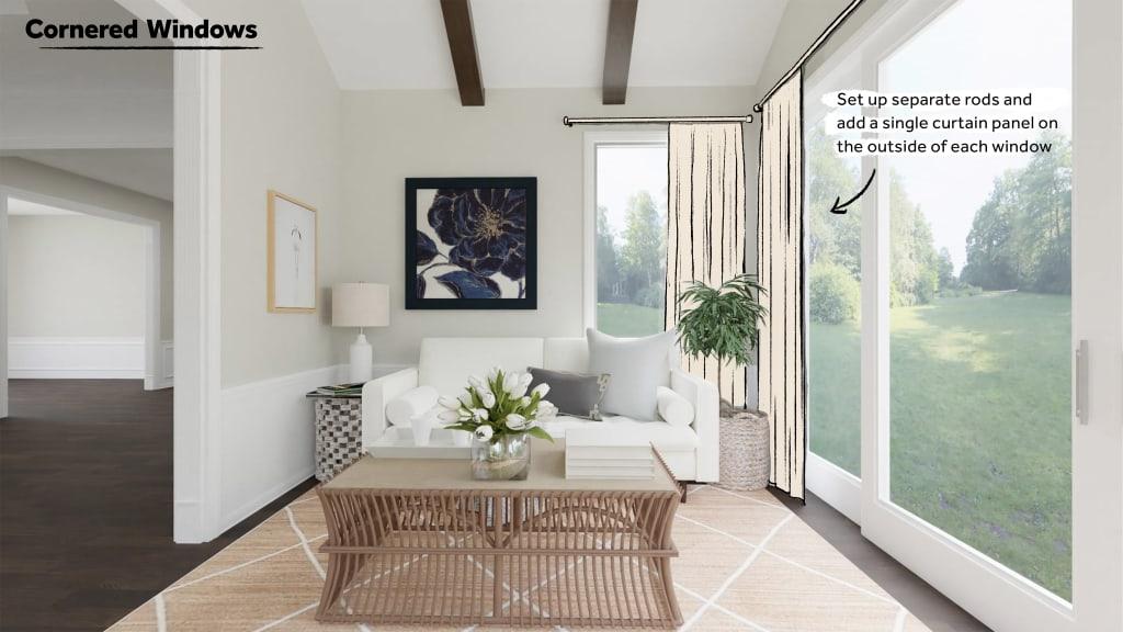 How to style Cornered Windows