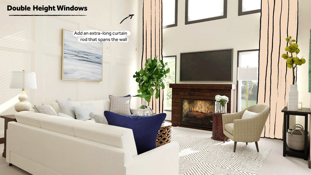 How to style Double Height Windows
