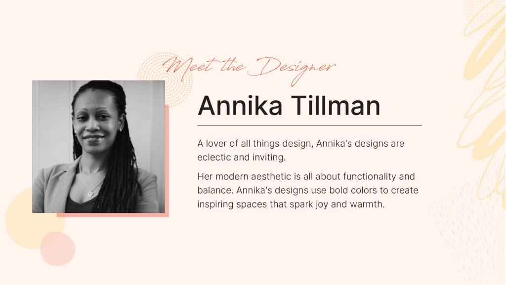 Spacejoy Designer Annika Tillman