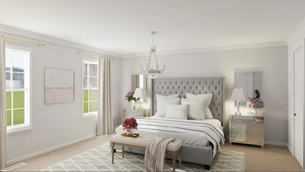 glam style bedroom