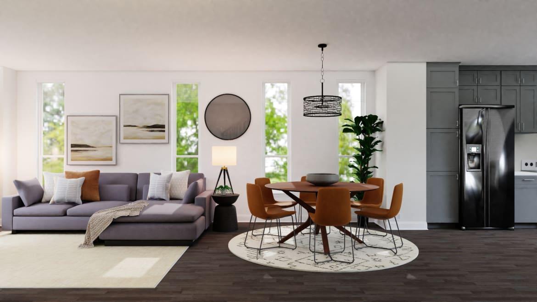 Mid-Century Modern Open Living
