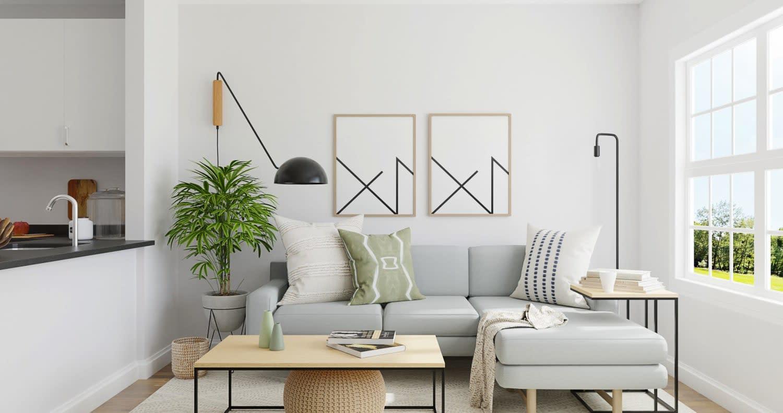 minimalist small living room