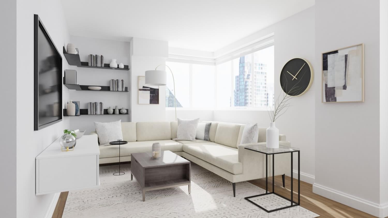 urban minimalist living room