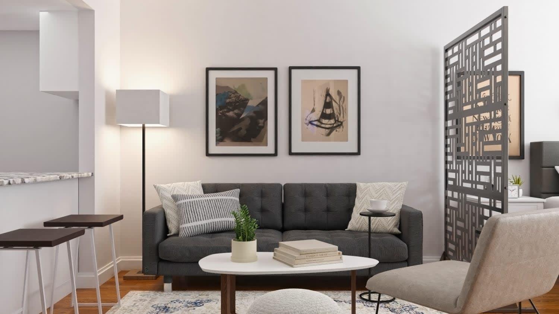 small modern studio apartment
