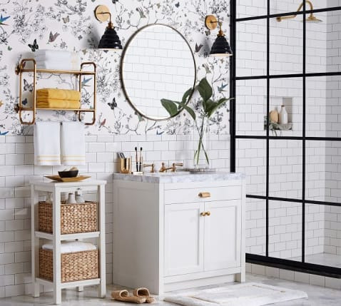 vintage-round-mirror-bathroom