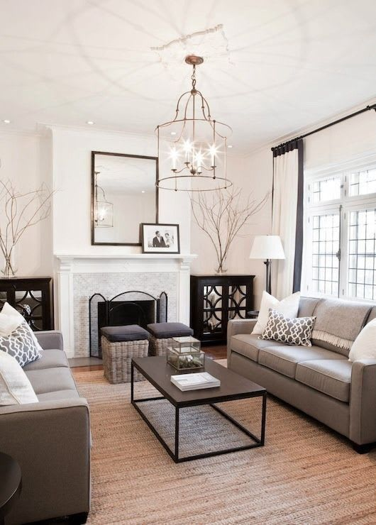 Rustic chic living room