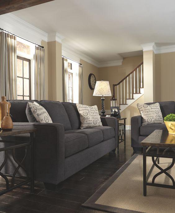 Cozy living room drapes and design
