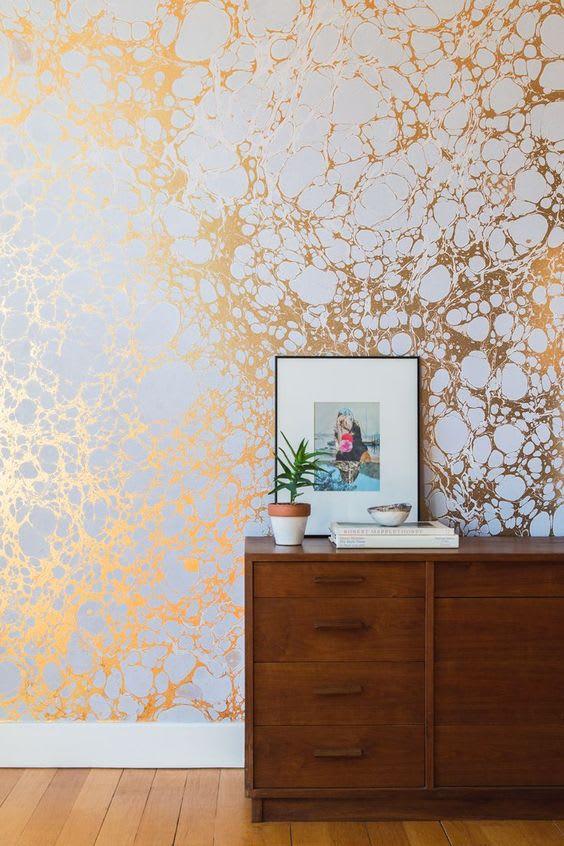 copper wall interior design