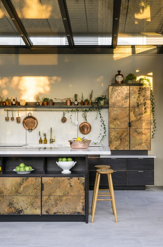 kitchen ideas with copper accents