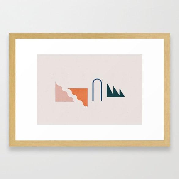 Even Framed Print