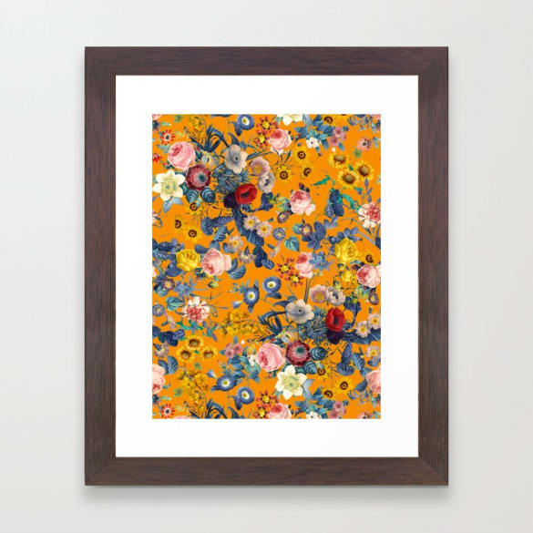 Summer Botanical Garden Framed Print