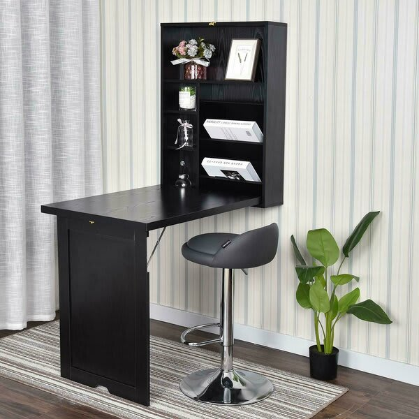 foldable wall out desk